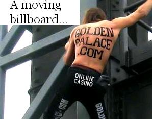 And Climb Buildings Wearing Temporary Golden Palace Tattoos